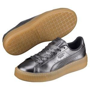 PUMA Basket Platform Luxe Women's Sneakers Shoes